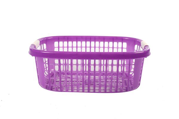 shallow cross plastic basket with carry handles